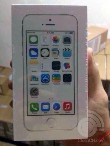 パッケージ化されたiPhone 5s/5c