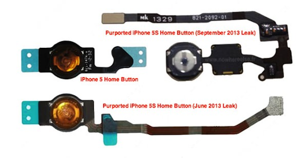 iPhone 5sのホームボタンパーツがリーク!