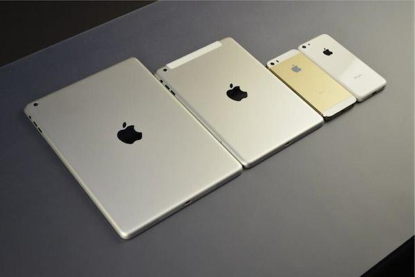 iPhone 5sとiPad 5などの比較写真