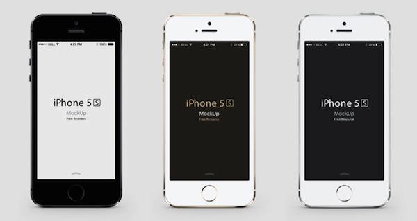 iPhone 5sのPSD素材