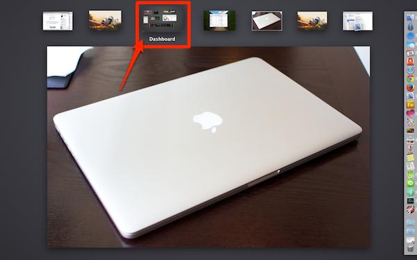 OS X MavericksのDashboard