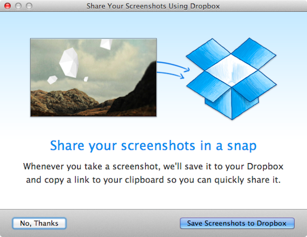 Dropbox screenshot