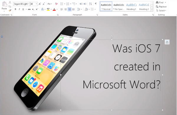 iOS 7 With Microsoft Word