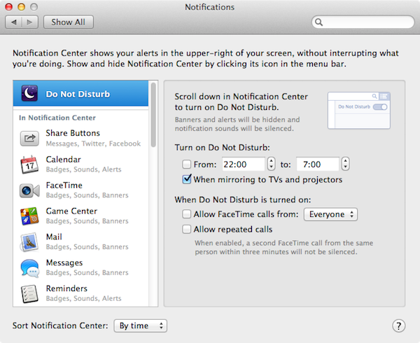 Do Not Disturb (OS X Mavericks)