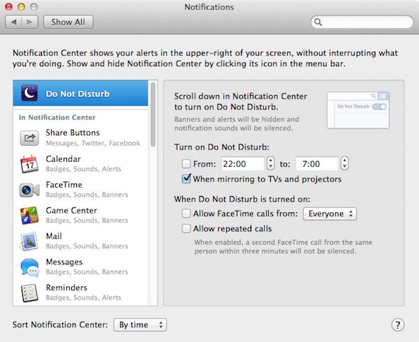 Do Not Disturb (OS X Mavericks)