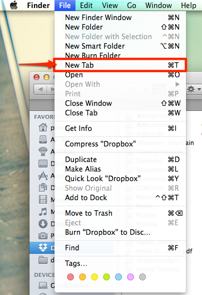 Os x mavericks tabs for finder2