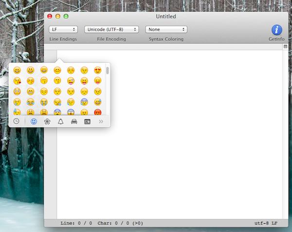 Osx mavericks emoji