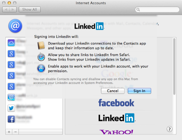 OS X Mavericks LinkedIn