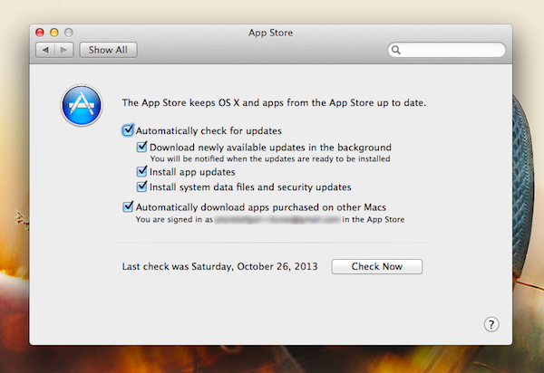 OS X Mavericks:App Automatic Background Updates