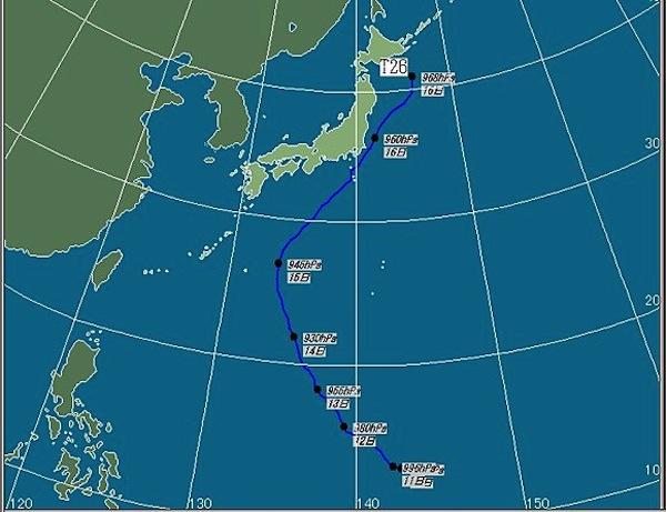 台風26号の経路
