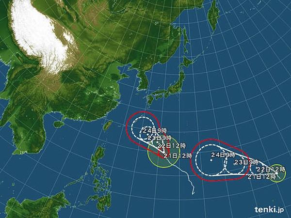 台風27号と28号がまさかのタイミングで…