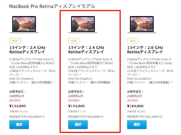 MacBook Pro Model 256gb