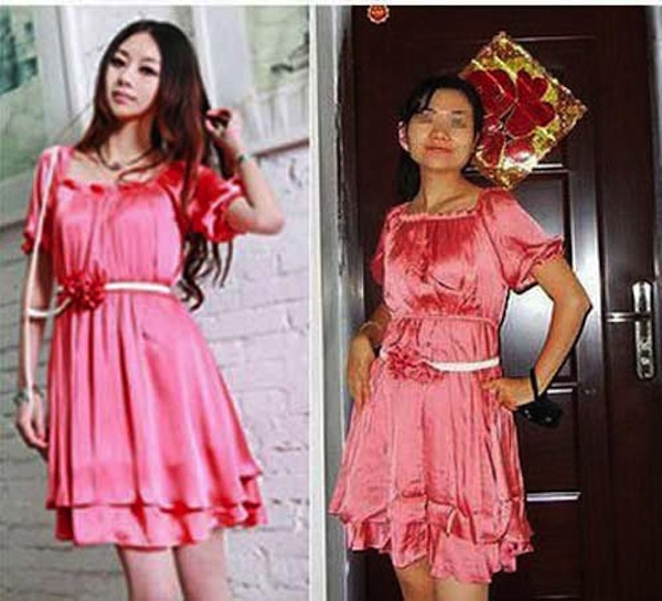 Asian clothes ad vs reality