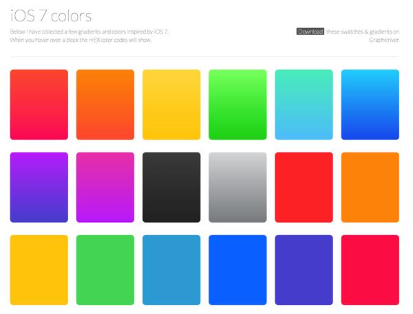 iOS 7 colors