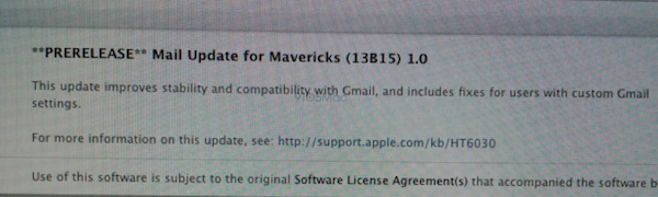 Mavericks update coming soon