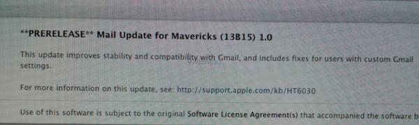Mavericks update coming soon