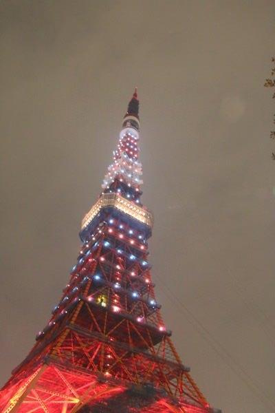 Tokyo tower illumination