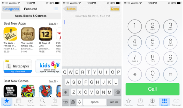 button shapes in iOS 7