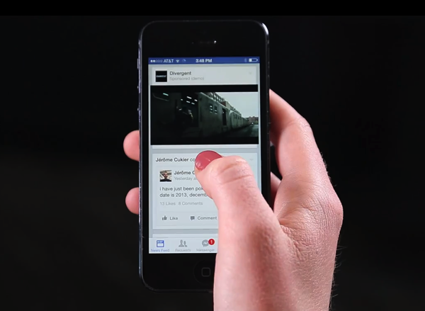 Facebook autoplay movie ads