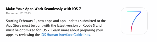iOS 7 and xcode5
