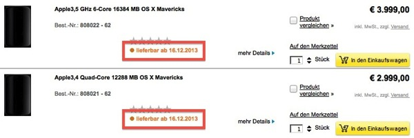 Mac pro selling date
