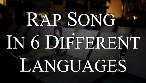 Rapping in 6 different languages