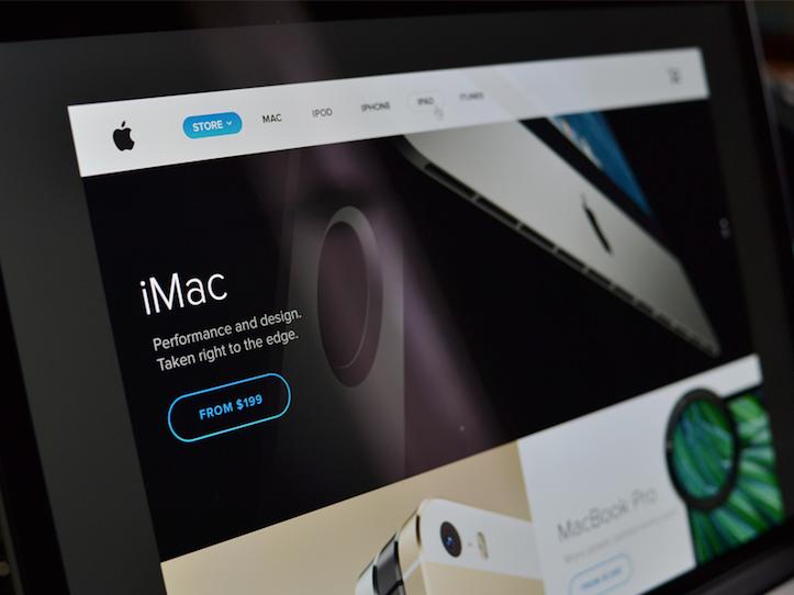 Apple公式ページのデザインイメージ