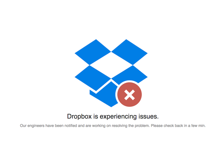 dropbox is down