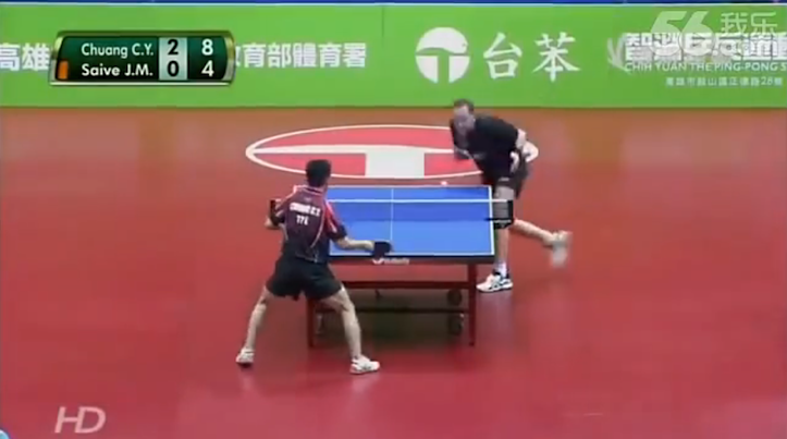 Hilarious table tennis match ever