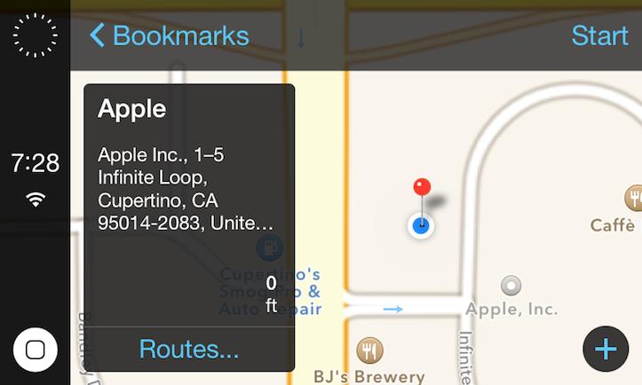 iOS 7 in the car