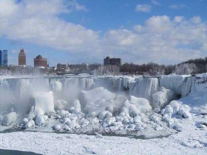 Niagara galls frozen