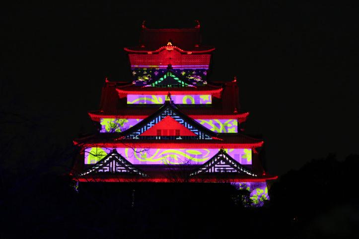 大阪城3Dマッピングスーパーイルミネーション