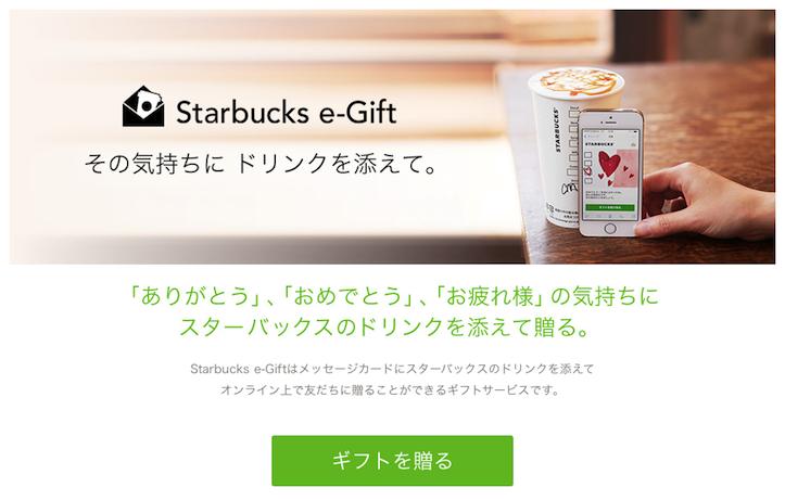 Starbucks e-Gifts