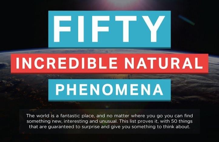 50 amazing natural phenomena
