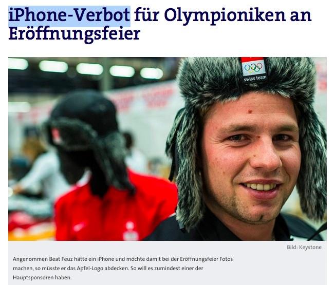 Sochi iPhone banning