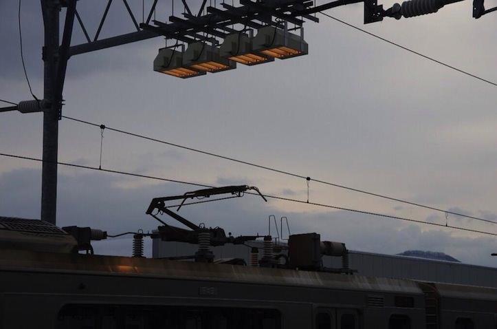 米沢駅のポイントを温めるヒーター