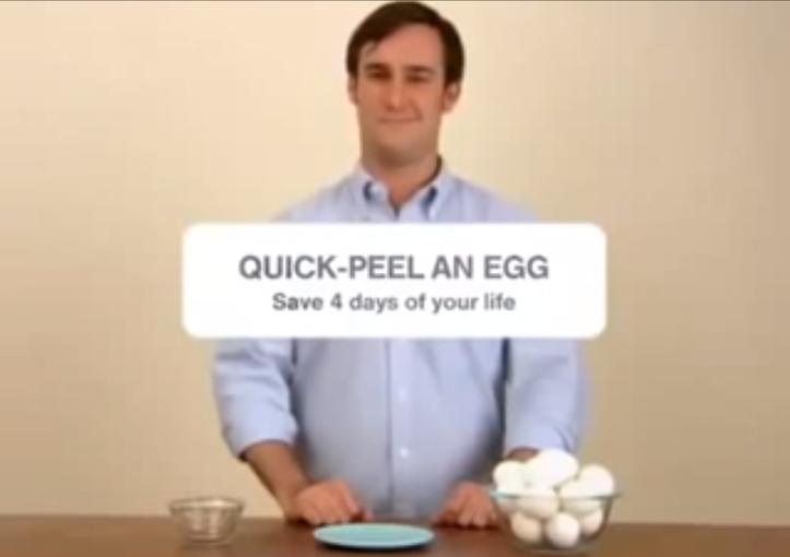 Peel an egg
