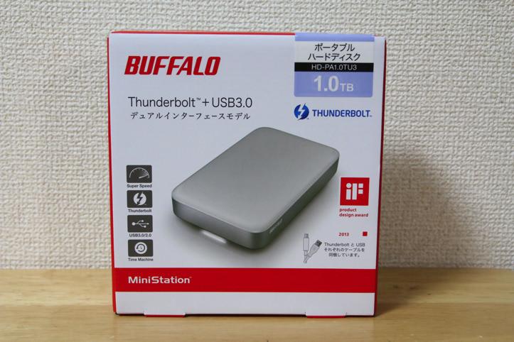 BUFFALO製ポータブルHDD(Thunderbolt対応)