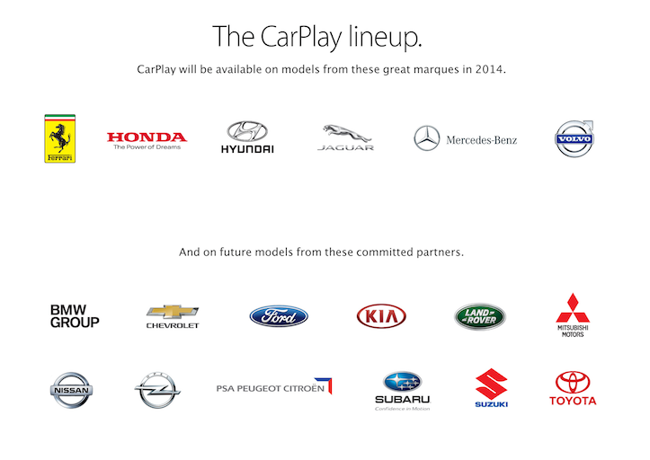 Carplay lineup
