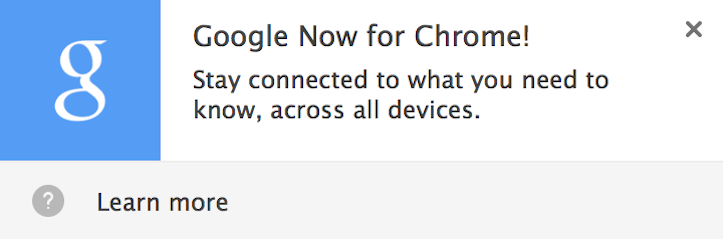 Google Now for Google Chrome