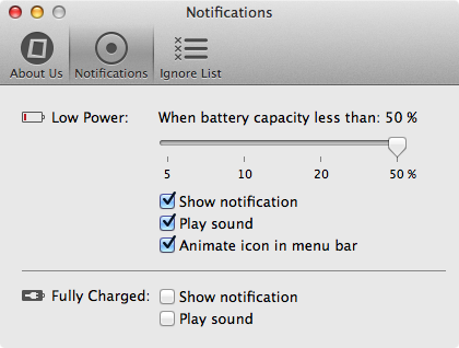 Ibettercharge settings