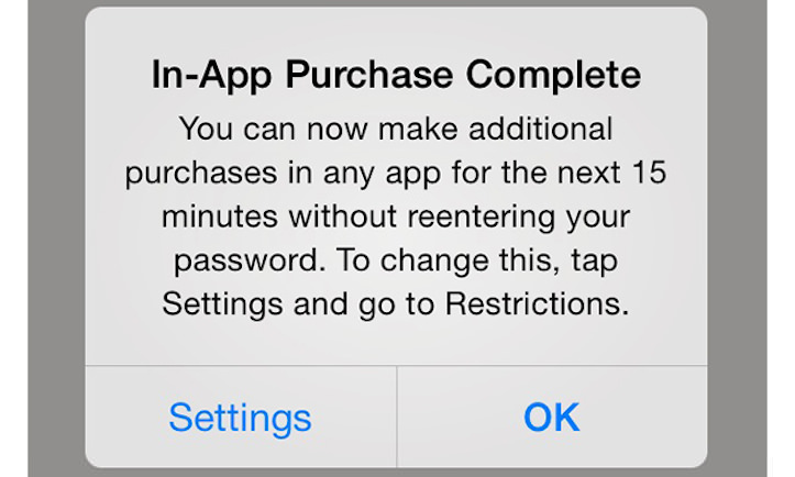 iOS 7.1のアプリ内課金