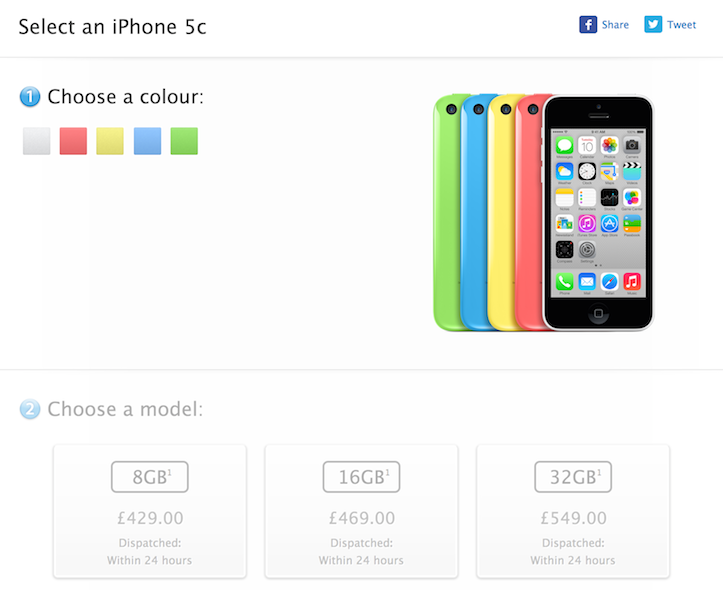 iPhone 5c 8gb apple