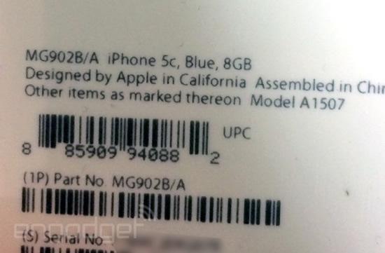 iPhone 5c 8GBモデル