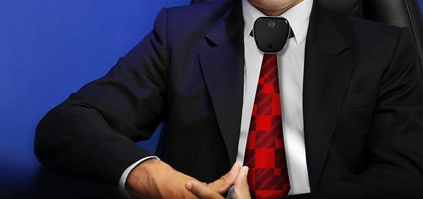 ネクタイ型ウェアラブルデバイスのコンセプト「iTie」