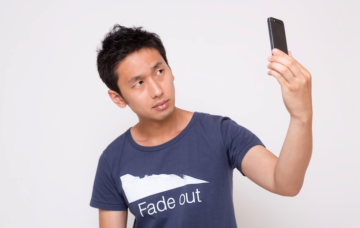 Selfie with iPhone