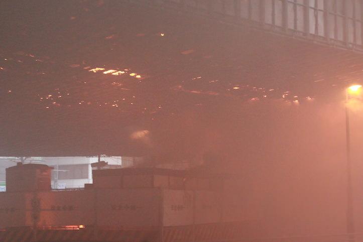 渋谷首都高三号線で大きな火事