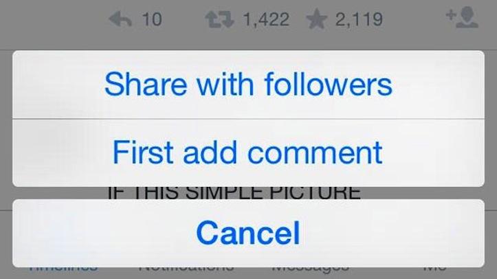 Twitter sharing