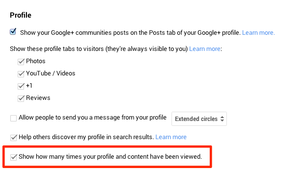 Show how many times your profile and content have been viewed