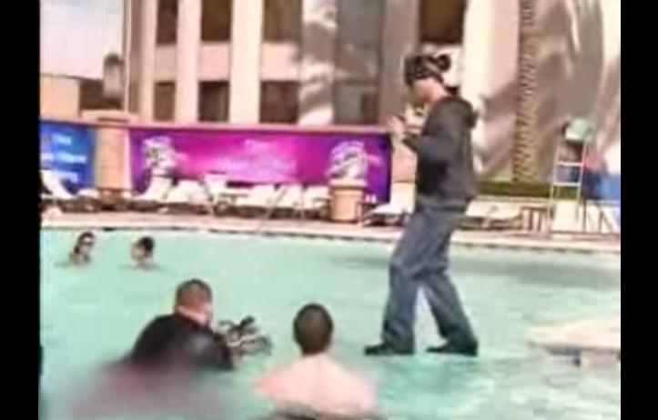 Chris angel walks on water